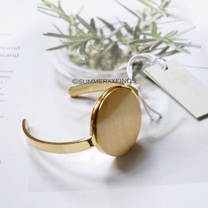 COS Smooth Disc Bangle Gold XS/S